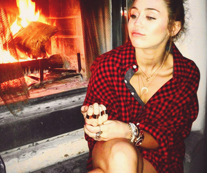 miley cyrus, miley, and fire image
