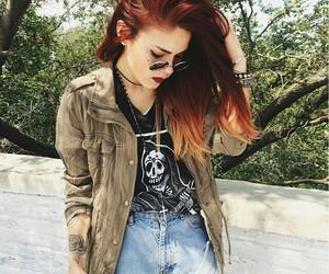 girl, grunge, and shorts image