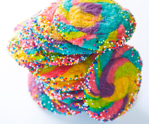 rainbow, Cookies, and colorful image