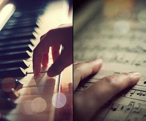music, piano, and note image