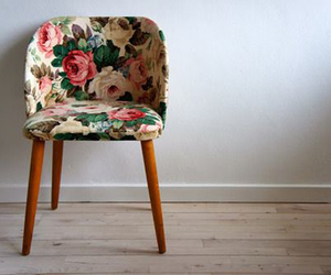 chair, design, and floral image