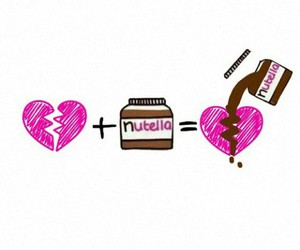 heart, heartbreak, and nutella image