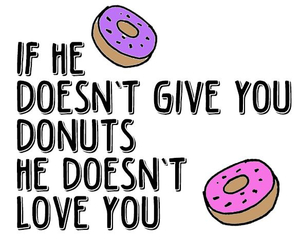 couple, donuts, and food image