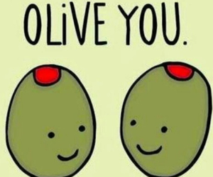 love, funny, and olives image