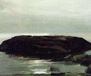 an island in the sea and george bellows image