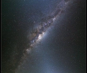 milky way, night, and road image