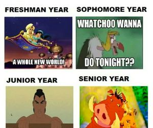 disney, funny, and high school image