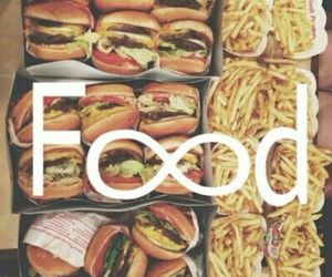 burgers, fries, and food image