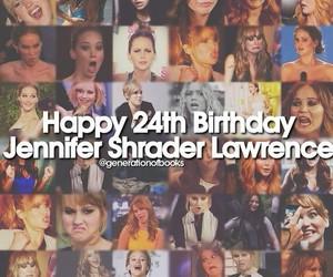happy birthday and Jennifer Lawrence image