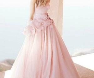 style, wedding dress, and pink image