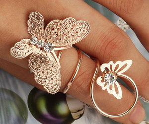 butterfly, ring, and pretty image