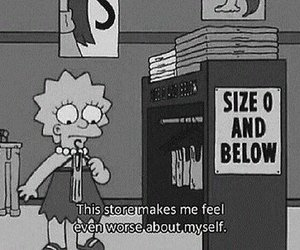 the simpsons, sad, and fat image