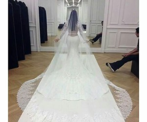 beauty, gown, and wedding image