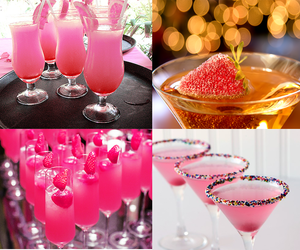 cocktail, pink, and summer image