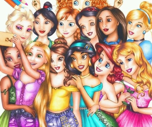 disney, princess, and selfie image