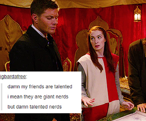 dean winchester, Felicia Day, and jared padalecki image