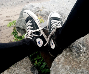 beach, converse, and cool image