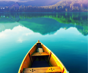 boat, water, and nature image