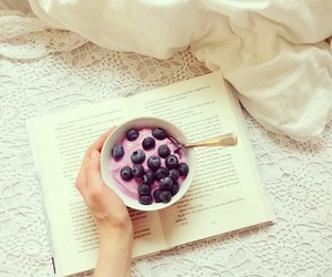 book, food, and fruit image