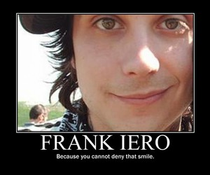 frank iero and smile image