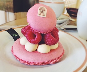 food, dessert, and macaroons image