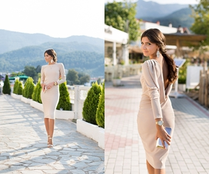 fashion blogger, Greece, and summer look image