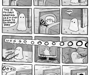 ghost, funny, and comic image