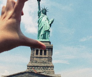 new york, statue of liberty, and ny image