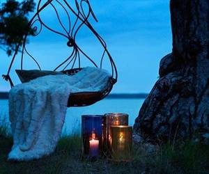 candle, romantic, and swing image