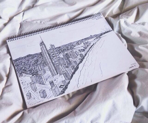city, drawing, and sketch image