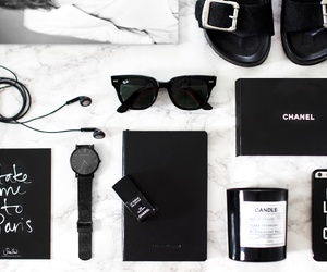 black, chanel, and white image
