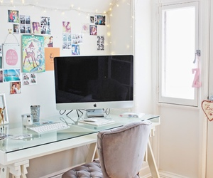 room, decoration, and desk image