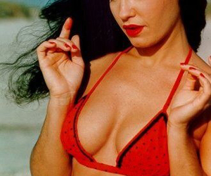 Bettie Page, red, and Pin Up image