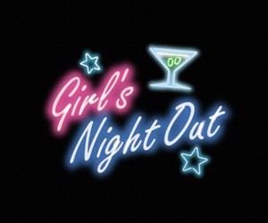 girls, night, and out image