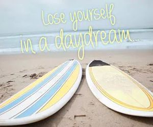 beach, daydream, and surf image
