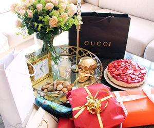 gucci, gift, and flowers image
