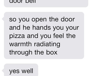 love, pizza, and text image