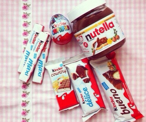 nutella, kinder, and chocolate image