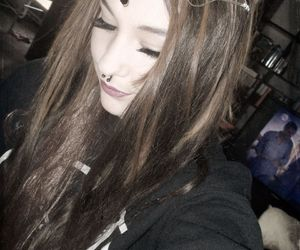 elven, eye lashes, and Piercings image