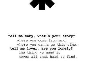 quote, rhcp, and tell me baby image