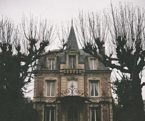 house, tree, and dark image