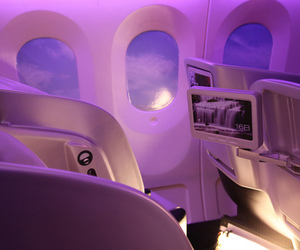purple, airplane, and aesthetic image