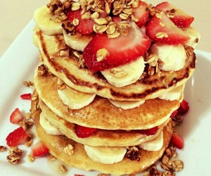 fruit and pancakes image