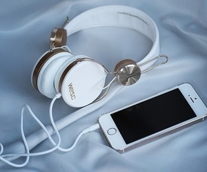 iphone, music, and white image