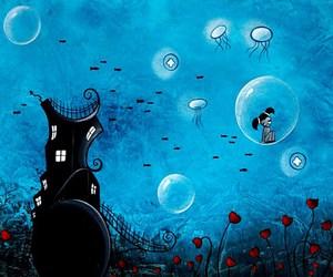 art, blue, and fantasy image