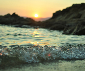 sun, beach, and sea image