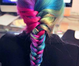 color hair and colorful image