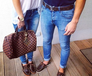 couple, fashion, and LV image
