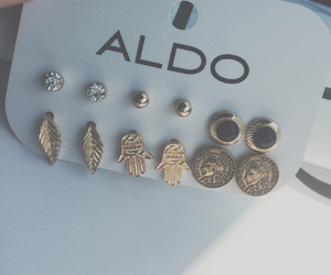 earrings, aldo, and gold image