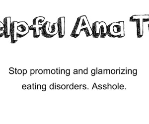 ana, anorexia, and eating disorder image